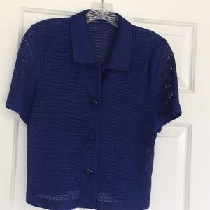 Sweaters - Royal blue short sleeve sweater
